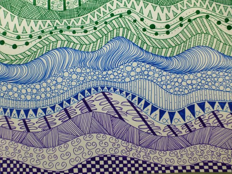 drodling, tegning, tusj, linjer, dots, lines