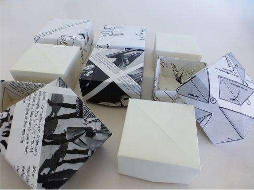 origamiboks, gjenbruk, diy