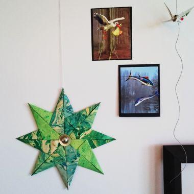 origamistjerne, stjerne av papir, diy