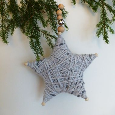 stjerne av garn, julepynt