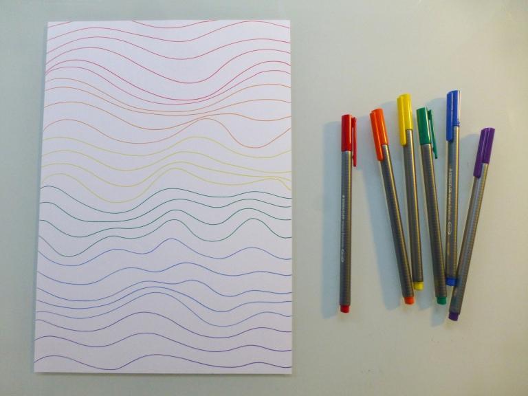 tusjtegning, drodling, tusj, linjer, lines, dots, zenatangle, craft, hobby