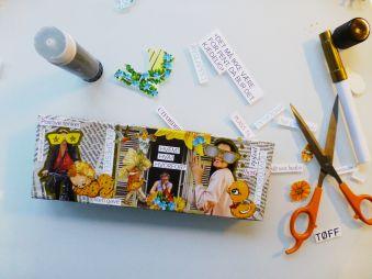 collage, avis, klipp og lim