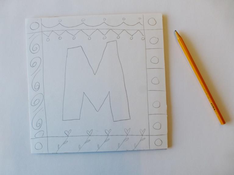 bokstav tegning
