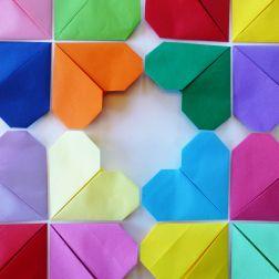 diy, hjerter, origami, hva skal vi lage