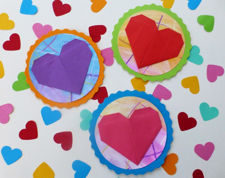 diy, kort med hjerte, morsdag, valentinsdag