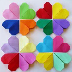 hjerter, origami, hva skal vi lage