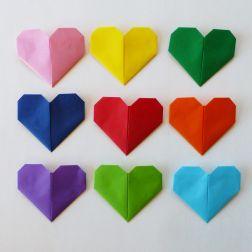 origamihjerte, origami, hva skal vi lage
