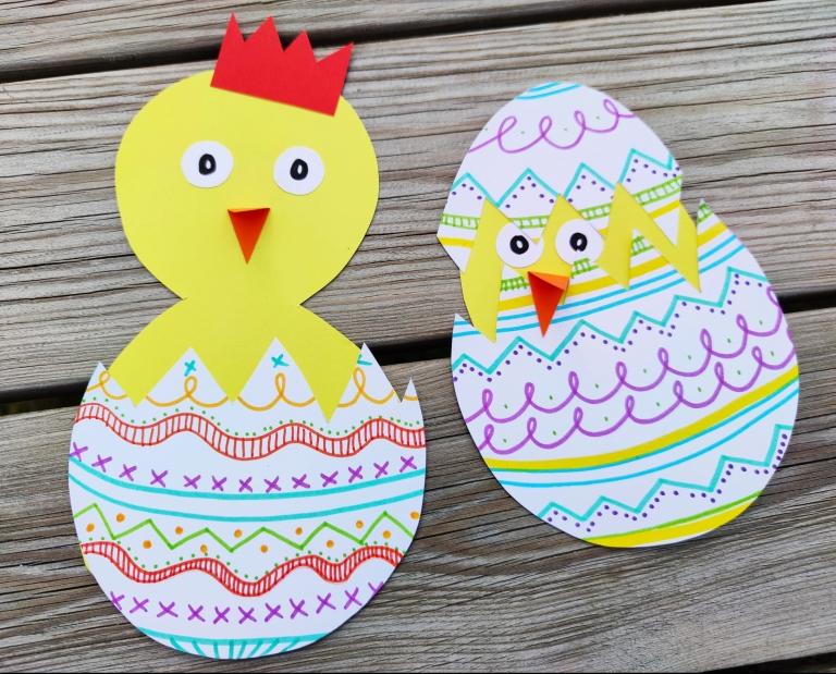 Påskekyllinger i egg