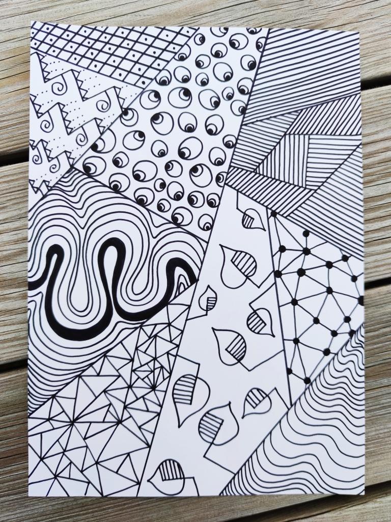 tegning, linjer, mønster