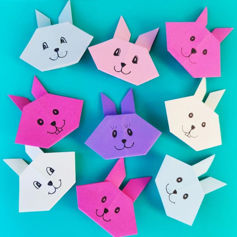 origami påskehare