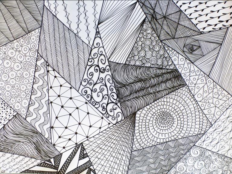 mønster, linjer, tegning