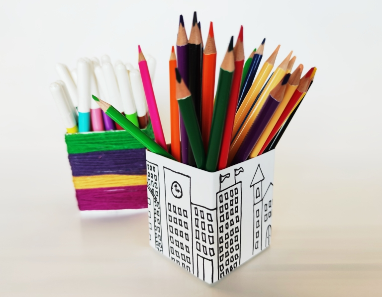 melkekartong gjenbruk, blyantholder
