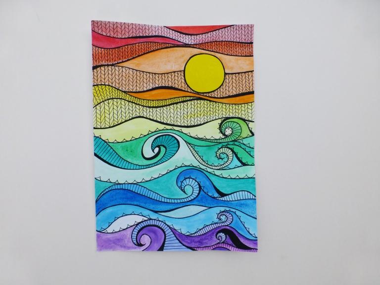 regnbuefarger, tegning