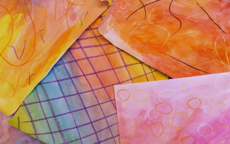 male, vannfarger, mønster