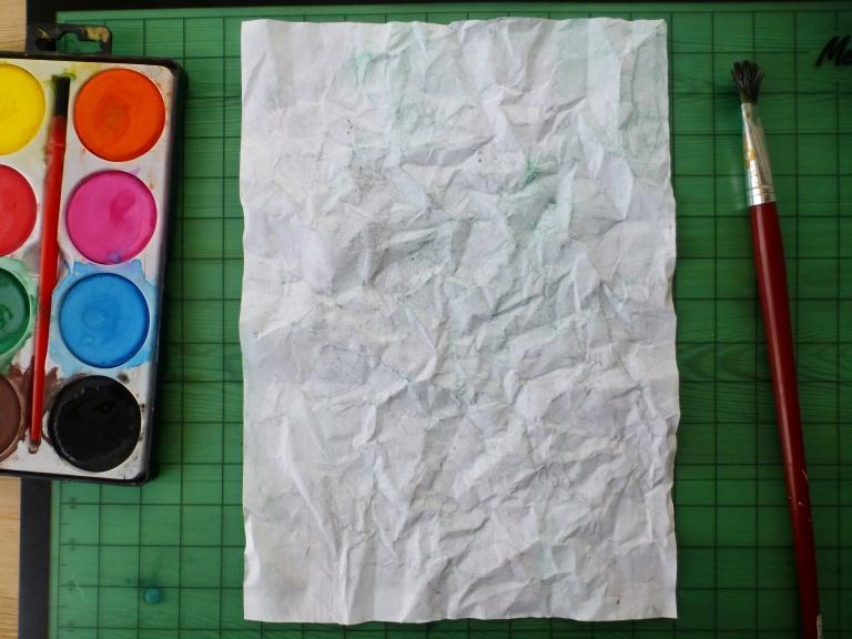 maling, vannfarge, struktur, papir